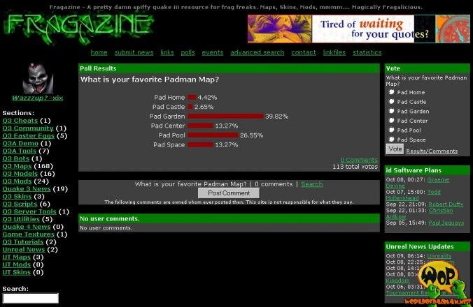 PadGarden voting on fragzine.com
