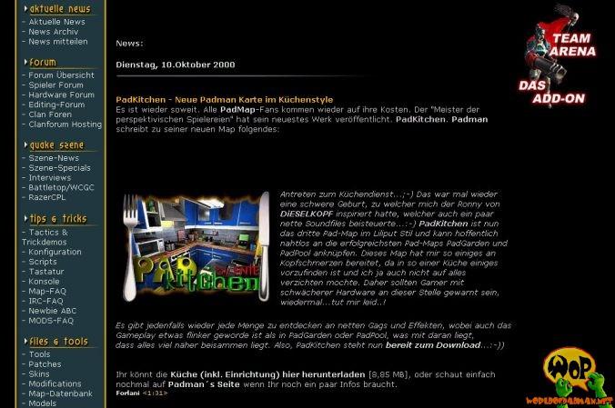 PadKitchen news on planetquake.de
