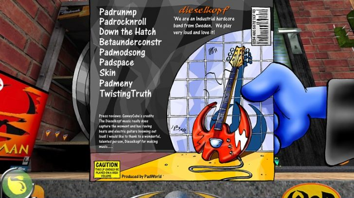 Music player menu