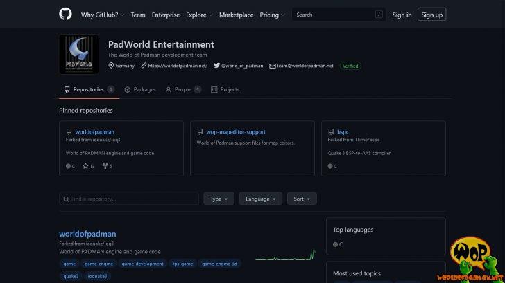 PadWorld Entertainment on GitHub