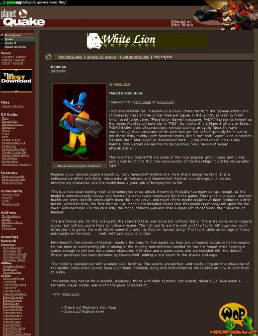 PADMAN als Modell der Woche auf planetquake.com