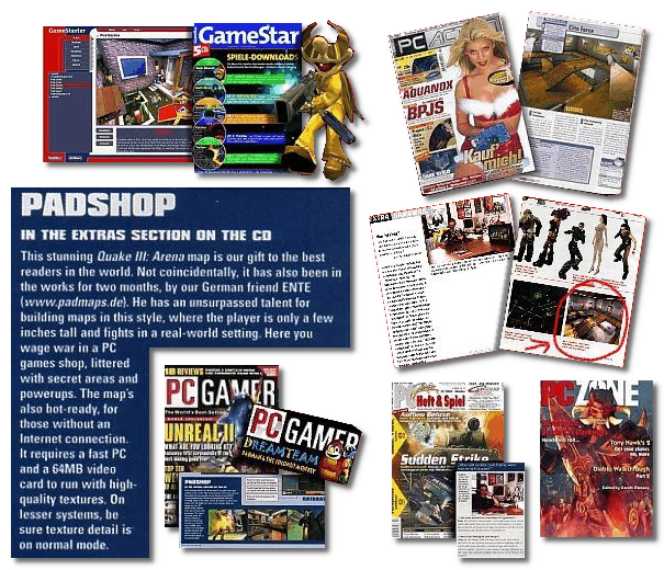 ENTE's PadMaps in game magazines and cover disks