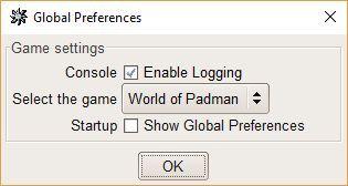GtkRadiant 1.5 - Globale Spieleinstellungen