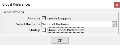 NetRadiant 1.5 - Globale Spieleinstellungen